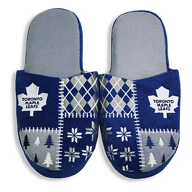 NHL Toronto Maple Leafs Men's Ugly Slippers, Small