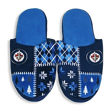NHL Winnipeg Jets Men's Ugly Slippers, Medium