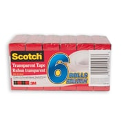 Scotch® Transparent Tape, Boxed, 19mm x 32.9m, 6/Pack