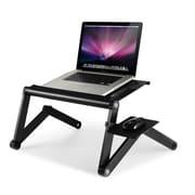 Furinno Ergonomics Adjustable Laptop Cart; Black