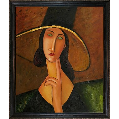 Wildon Home Portrait of Woman in Hat by Amedeo Modigliani Framed Painting