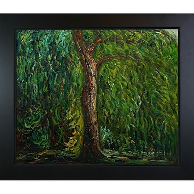 Wildon Home Weeping Willow by Claude Monet Framed Painting