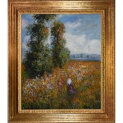 Wildon Home   Field w/ Poplars by Claude Monet Framed Painting