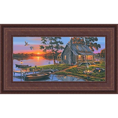 HadleyHouseCo 'Morning Glory' by Geno Peoples Framed Painting Print on Wrapped Canvas