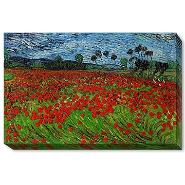 Wildon Home Field of Poppies by Vincent Van Gogh Framed Painting