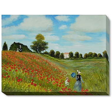 Wildon Home Poppy Field in Argenteuil by Claude Monet Framed Painting