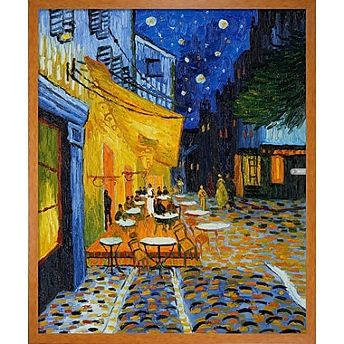 Wildon Home Cafe Terrace at Night by Vincent Van Gogh Framed Painting