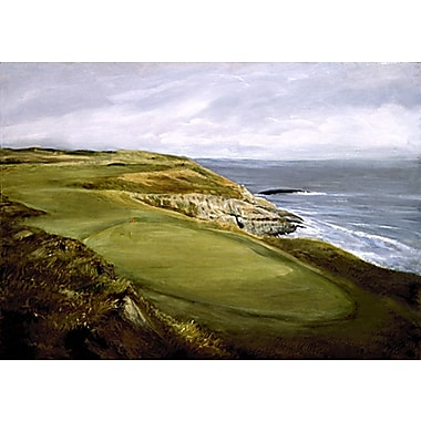 HadleyHouseCo Golf Course By The Sea Painting Print on Wrapped Canvas