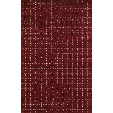 Chandra Chelsea Cranberry Area Rug; 2' x 3'