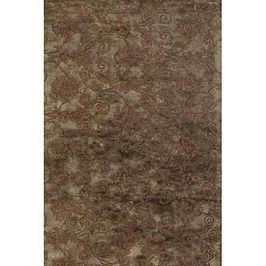 Chandra Casta Brown / Grey Area Rug; 2' x 3'