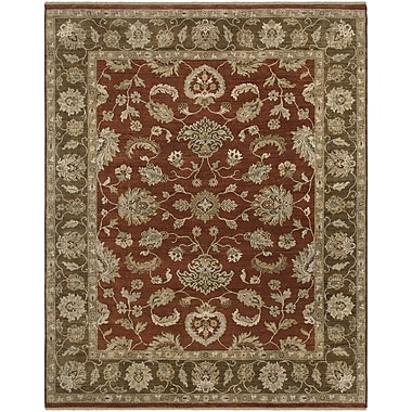 AMER Rugs Rojas Design Red Hand-Knotted Area Rug; 9' x 12'