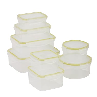 Honey Can Do Snap-tab 16-Piece Food Storage Set