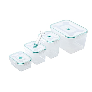 Zevro Vac 'n Save™ 9-Piece Rectangular Food Storage Set