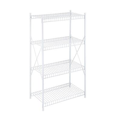 Honey Can Do 4-Tier Wire Storage Shelf, White