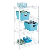 Honey Can Do 4-Tier White Wire Shelving Unit (SHF-05270)