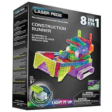 Laser Pegs – Ensemble de construction 8 en 1, Runner