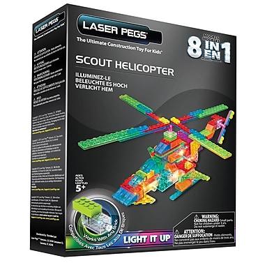 Laser Pegs – Hélicoptère d'observation 8 en 1