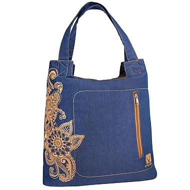 Motiv - Mallette de style sac à main pour ordinateur portatif, jeans et broderie