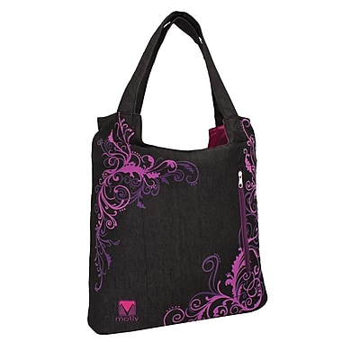 Motiv Handbag Laptop Briefcase, Jeans & Purple
