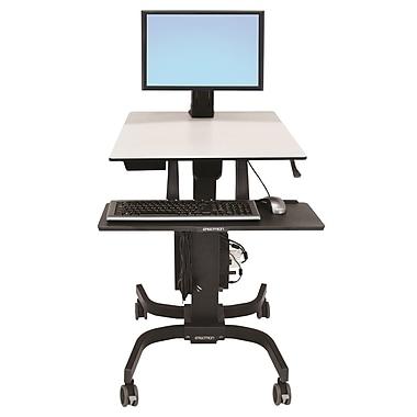ErgotronMD – 24-198-055 WorkFit-C, station de travail en position assise ou debout, écran simple, poids léger
