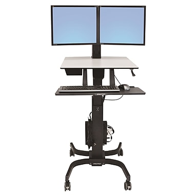 Ergotron® 24-214-085 WorkFit-C, Dual Sit-Stand Workstation