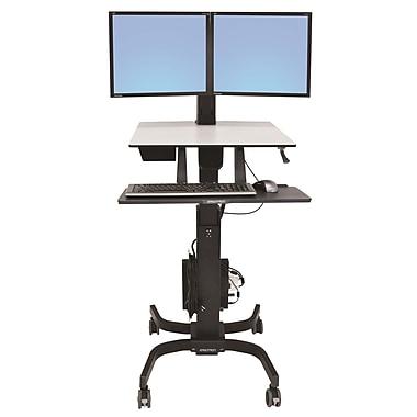 ErgotronMD – 24-214-085 WorkFit-C, deux écrans de travail en position assise ou debout