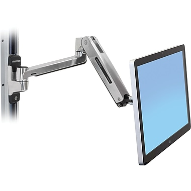 Ergotron® 45-383-026 LX HD Sit-Stand Wall Mount LCD Arm, Polished