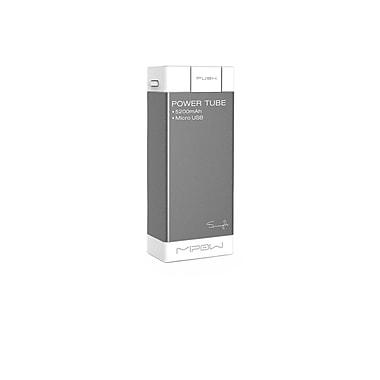 MiPow SPM04GR Power Tube Micro USB Portable Charger, 5200mAh, Grey