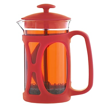 Grosche – Cafetière à piston Basel, rouge, 800 ml