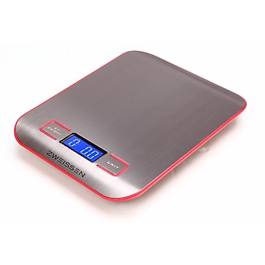Zweissen Aprilia Digital Kitchen Scale, Red, 11lb