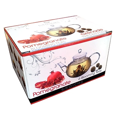 Grosche Pomegranate Blooming Tea, 6 Bags/Pack