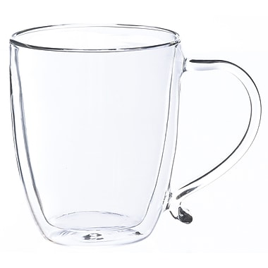 Grosche Cyprus Double Walled Glass Mug, 500ml