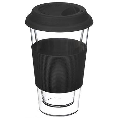 Grosche Glassen Double Walled Travel Mug, Black, 350ml