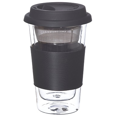 Grosche Glassen Double Walled Infuser Travel Mug, 350ml