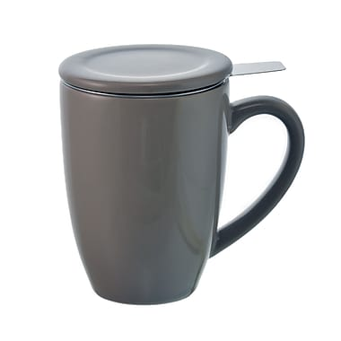 Grosche Kassel Infuser Tea Mug, Grey, 330ml