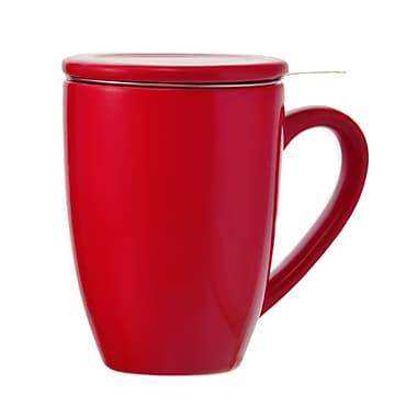 Grosche – Tasse à thé Kassel avec infuseur, rouge, 330 ml