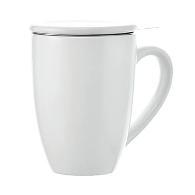 Grosche Kassel Infuser Tea Mug, White, 330ml