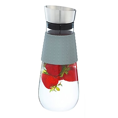 Grosche Maui Water Pitcher and Fruit Infuser, Grey, 1 Litre