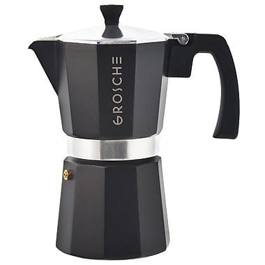 Grosche – Cafetière à espresso pour cuisinière Milano, noir, 6 tasses