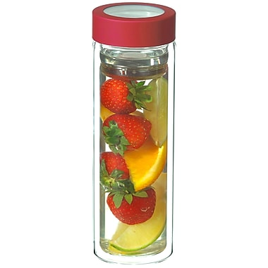 Grosche Montreal Double Walled Fruit and Tea Infuser, Red, 400ml