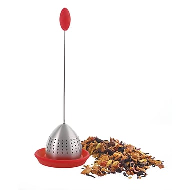 Grosche Tulip Drop-In Tea Infuser, Red