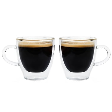 Grosche Turin Double Walled Espresso Glasses, 2 x 70ml