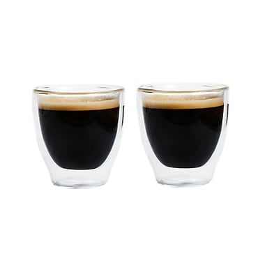 Grosche Turino Double Walled Espresso Glasses, 2 x 70ml