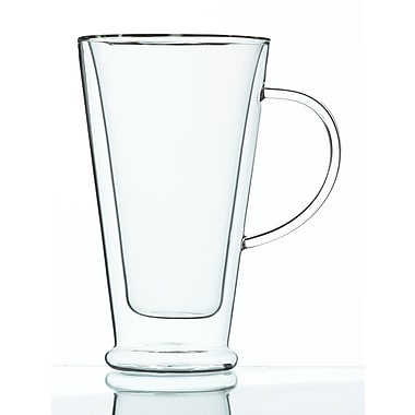 Grosche Verona Double Walled Glass Mug, 500ml