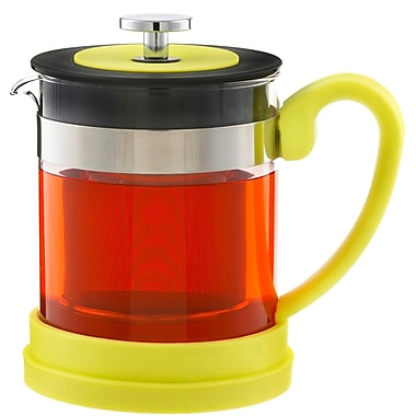 Grosche Valencia Infuser Teapot, Yellow, 600ml