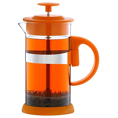 Grosche Zurich French Press Coffee Maker, Orange, 1 Litre
