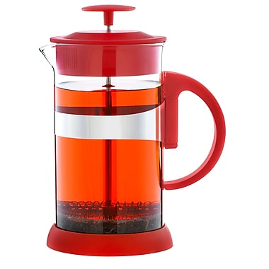 Grosche Zurich French Press Coffee Maker, Red, 1 Litre