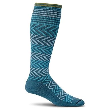 Chevron Women Compression Socks, SW7W-480, Size SM
