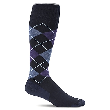 Argyle Male Compression Socks, SW3M-600, Size LXL