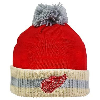 Reebok CCM Stripe Cuffed Pom Knit Toque, Detroit Red Wings